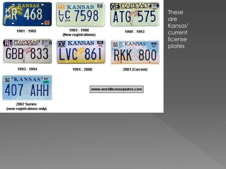 These are Kansas' current license plates