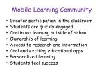 mobile learning community