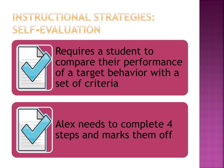Instructional Strategies: