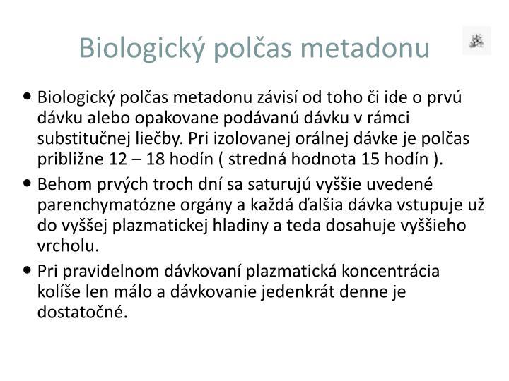 Biologický polčas metadonu