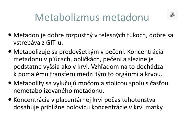 Metabolizmus metadonu