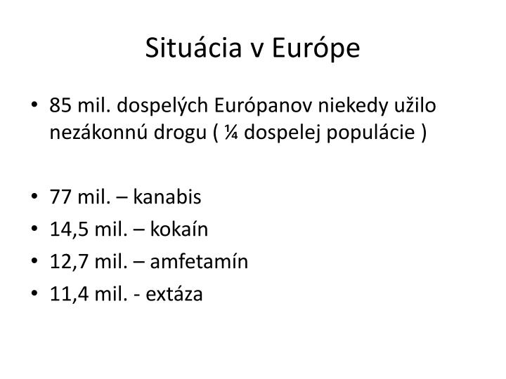 Situácia v Európe