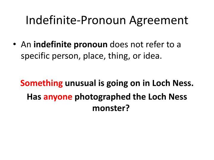 Indefinite-Pronoun Agreement