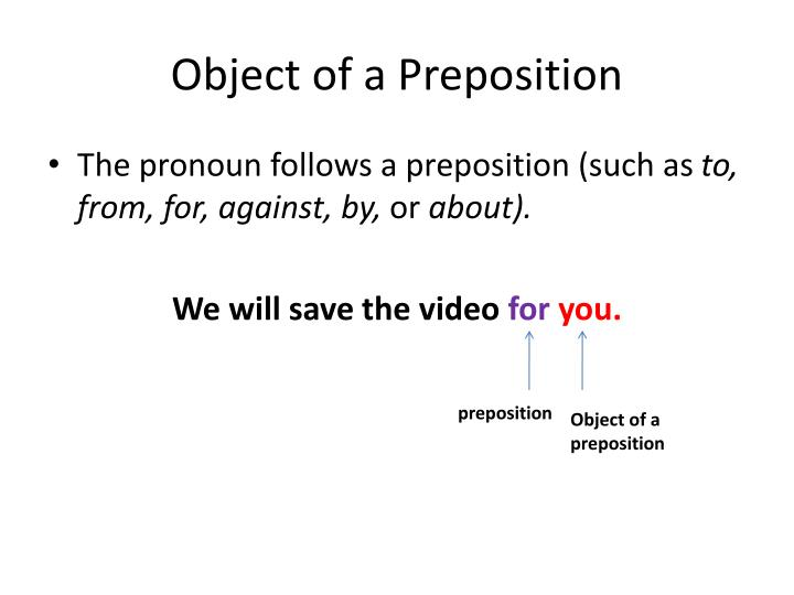 Object of a Preposition