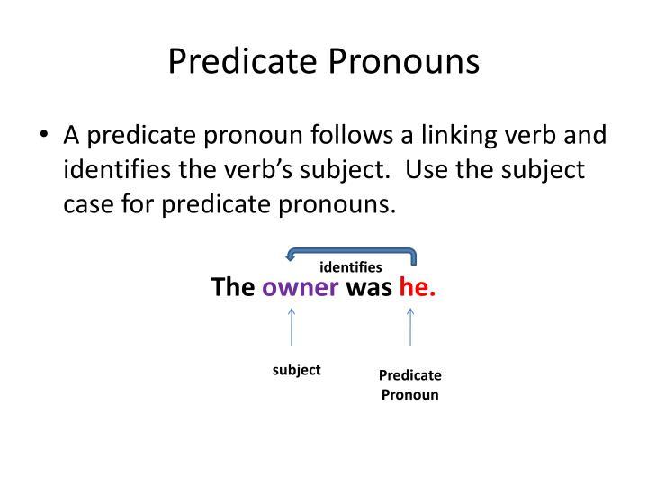 Predicate Pronouns