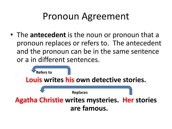 Pronoun Agreement