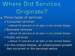 where did services originate2