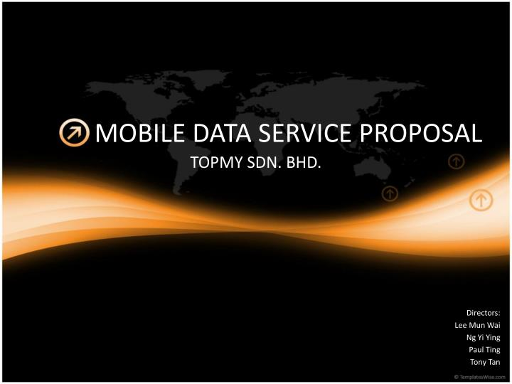 mobile data service proposal