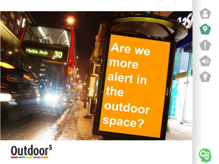 Are we more alert in the outdoor space?