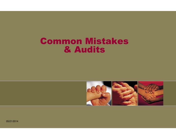 Common mistakes audits