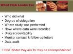 what fda looks for