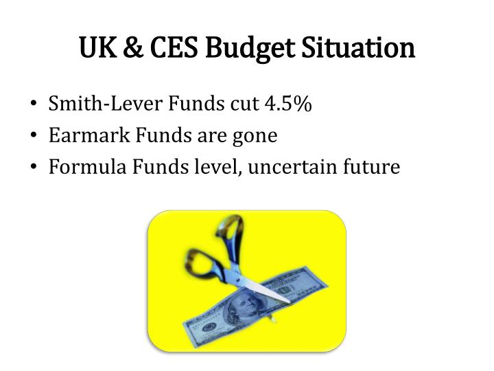 UK & CES Budget Situation
