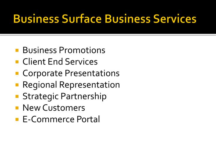 Business Surface Business Services