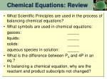 chemical equations review