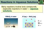 reactions in aqueous solutions1