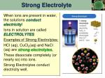 strong electrolyte