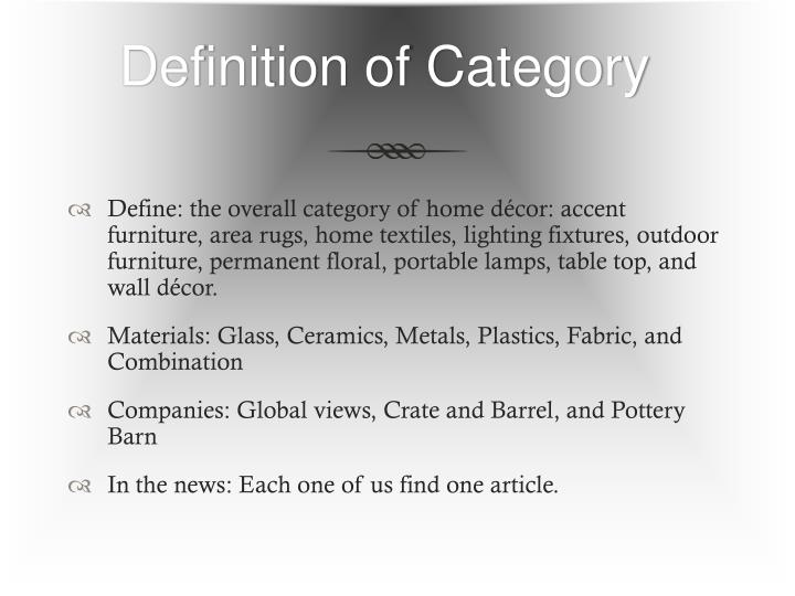 Definition of category