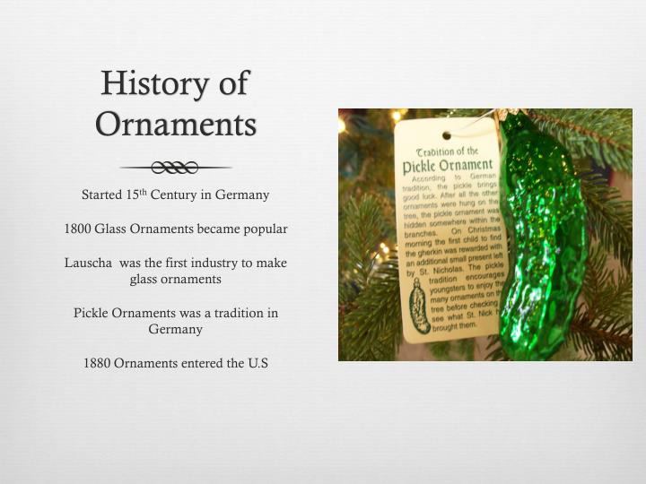 History of Ornaments