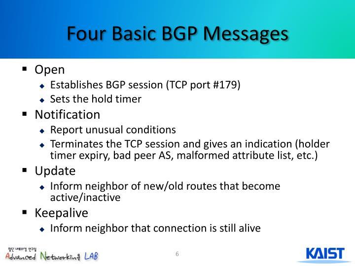 Four Basic BGP Messages