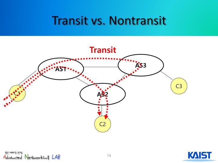 Transit vs. Nontransit