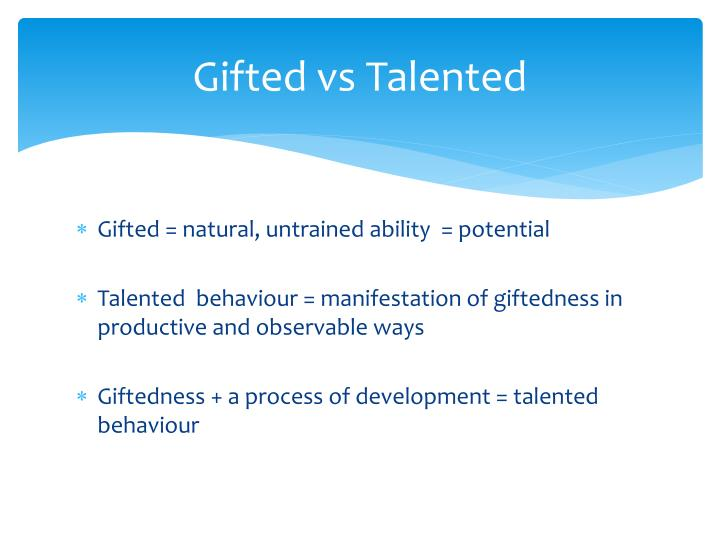 Gifted vs talented