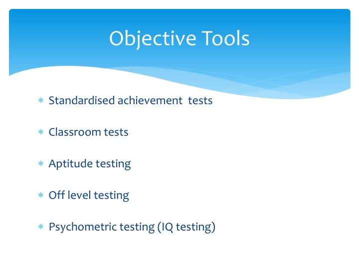 Objective Tools