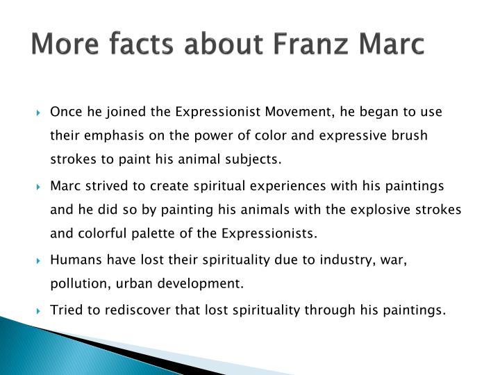 More facts about Franz Marc
