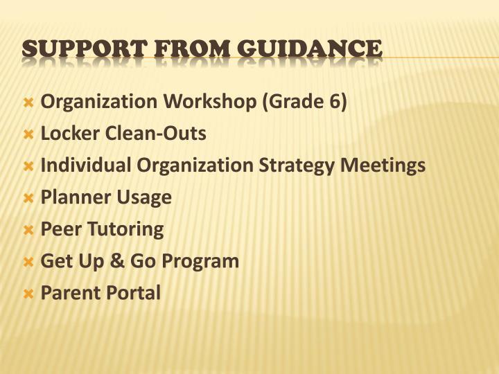 Organization Workshop (Grade 6)