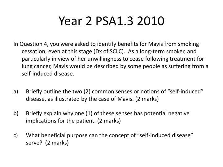Year 2 PSA1.3 2010