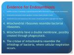 evidence for endosymbiosis1
