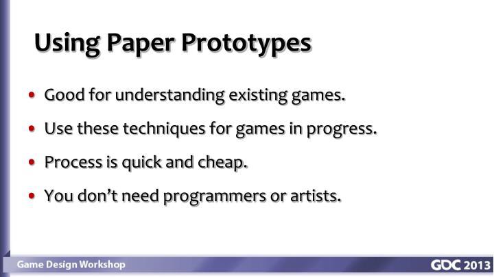 Using Paper Prototypes