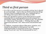 third vs first person