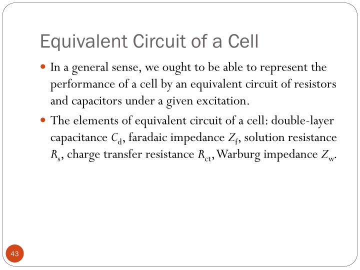 Equivalent Circuit of a Cell