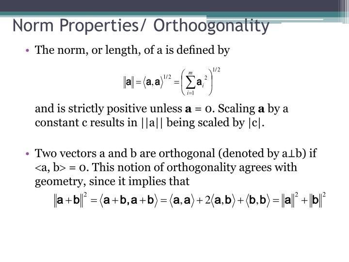 Norm Properties/
