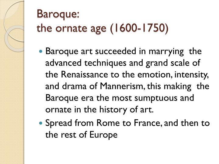 Baroque: