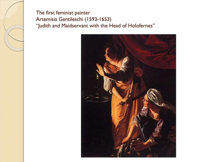The first feminist painter