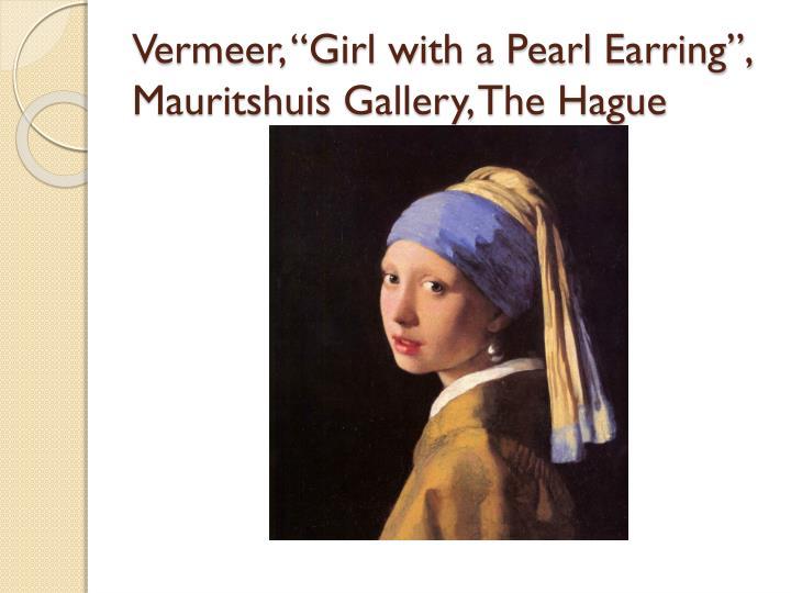 "Vermeer, ""Girl with a Pearl Earring"","
