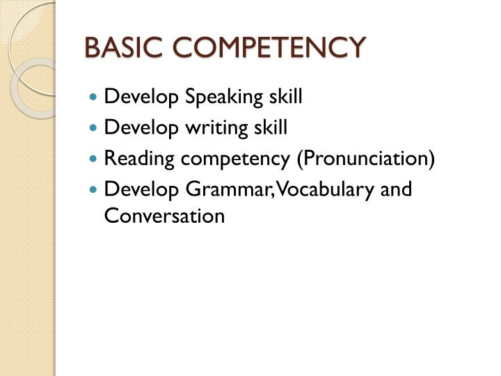 Basic competency