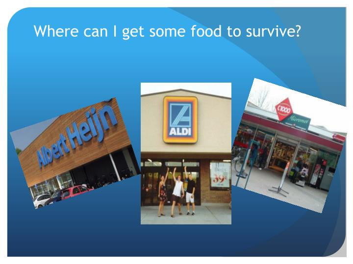 Where can I get some food to survive?