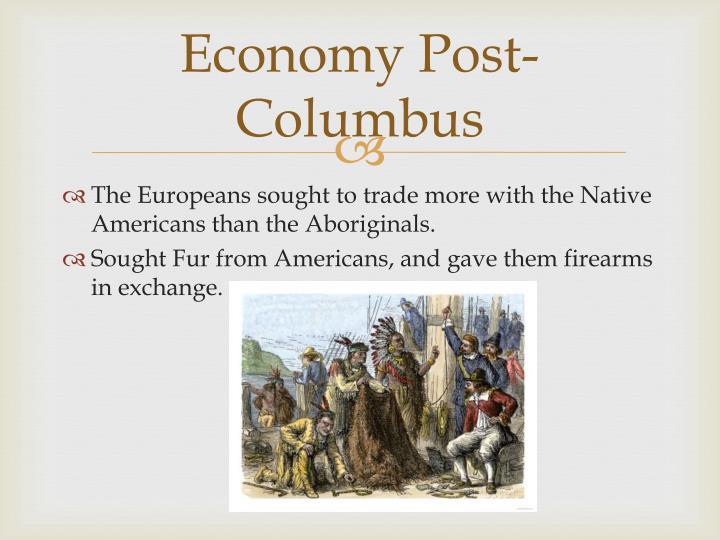 Economy Post-Columbus