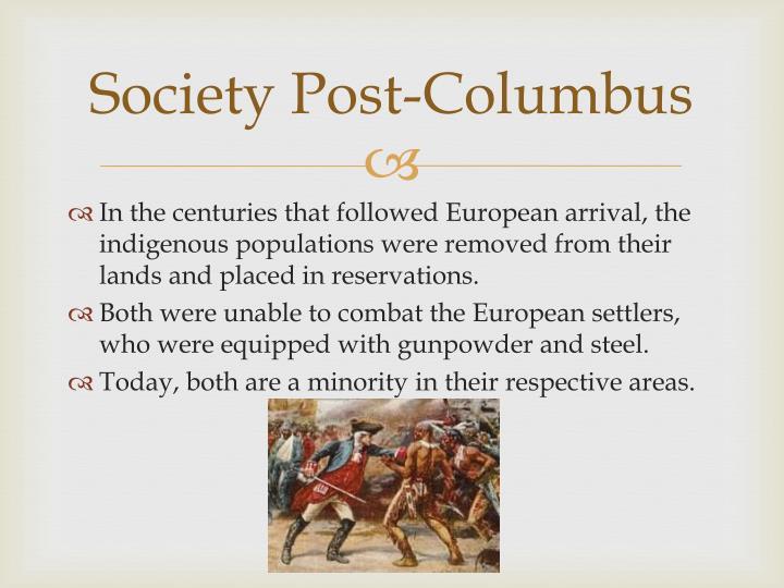 Society Post-Columbus