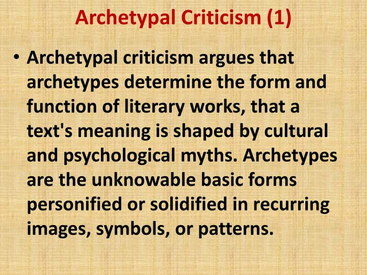 Archetypal Criticism (1)