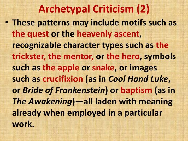 Archetypal Criticism (2)