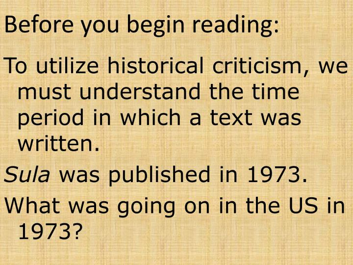 Before you begin reading: