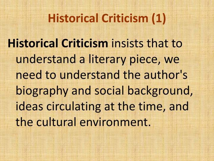 Historical Criticism (1)