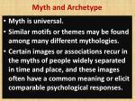 myth and archetype