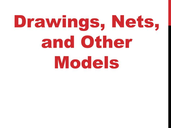Drawings, Nets, and Other Models