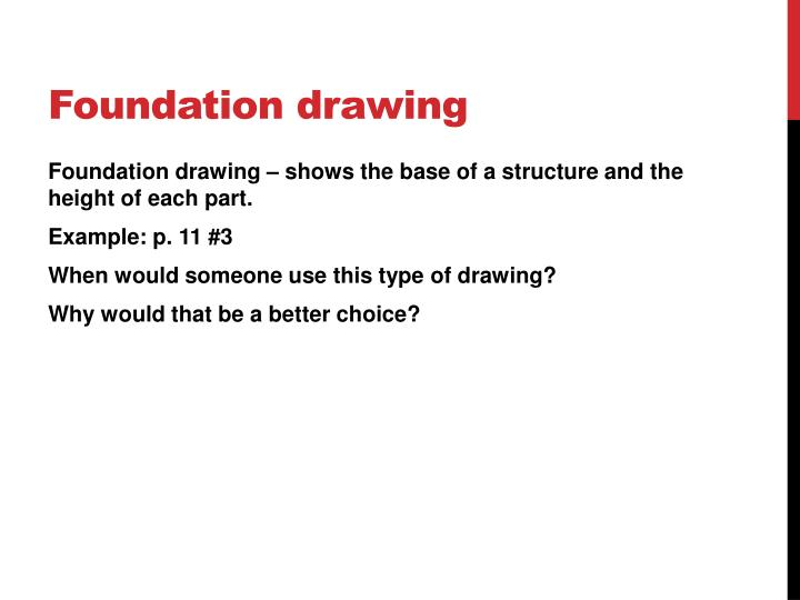Foundation drawing