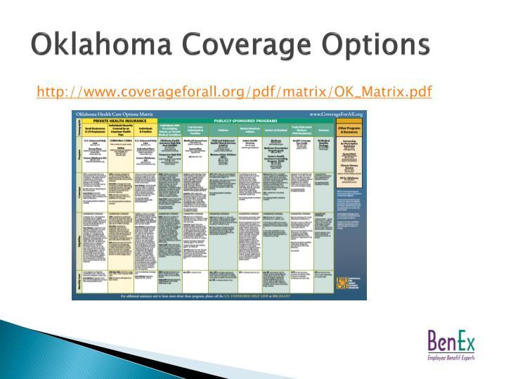 Oklahoma Coverage Options