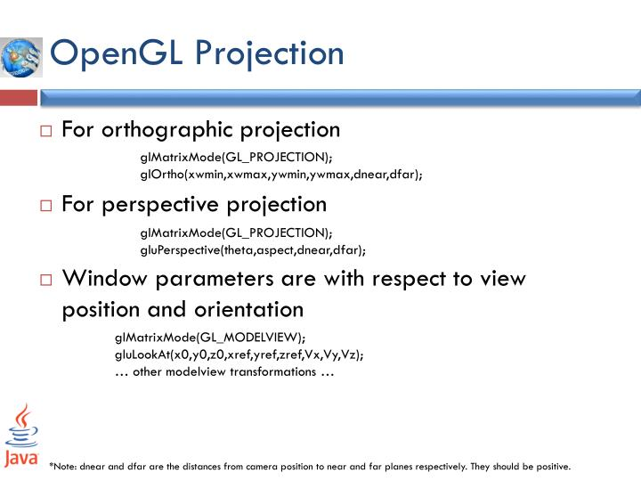 OpenGL Projection